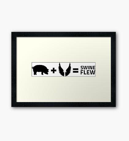 The swine flu Framed Print