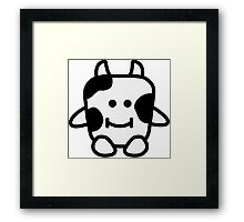 Moody Cow Framed Print