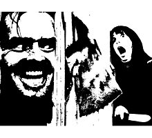 Here's Johnny! - The Shining Photographic Print