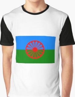 Flag of the Romani People  Graphic T-Shirt