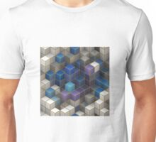 Colorful Abstract Geometric Cubes Unisex T-Shirt