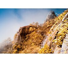 Huangshan Caressed by Mist  Photographic Print
