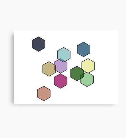 laughing hexagons Canvas Print