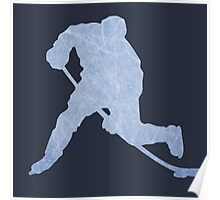 Hockey ice silhouette Poster