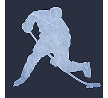 Hockey ice silhouette Photographic Print
