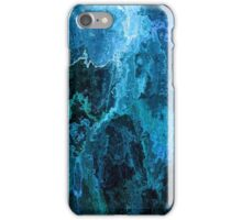 Blue Abstract Stone Textured Painting iPhone Case/Skin