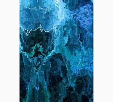 Blue Abstract Stone Textured Painting Unisex T-Shirt