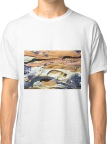 Australian rock formation with ocean in background, sandstone texture Classic T-Shirt