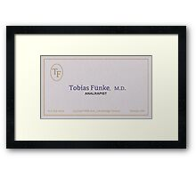 tobias funke analrapist Framed Print