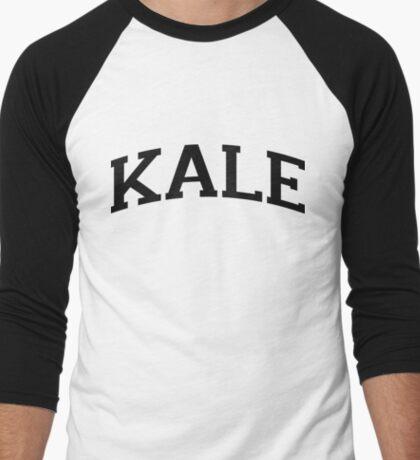KALE Black Ink Men's Baseball ¾ T-Shirt