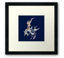 Arceus Earth Silhouette Framed Print