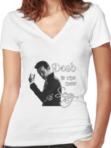 Dead is the new sexy  Women's Fitted V-Neck T-Shirt