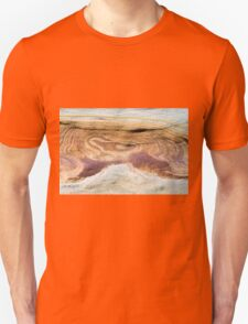 Australian rock formation with ocean in background, sandstone texture Unisex T-Shirt