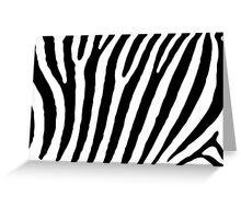 Simple Black and White Zebra Stripe Pattern Greeting Card