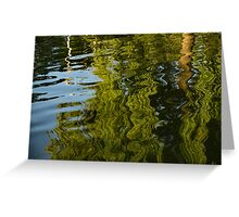 Mesmerizing Summer - Reflecting on Green Trees - One Greeting Card