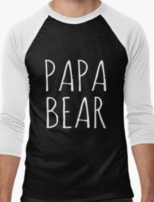 Papa Bear White Ink  T-Shirt