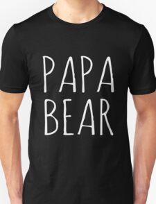 Papa Bear White Ink  T-Shirt
