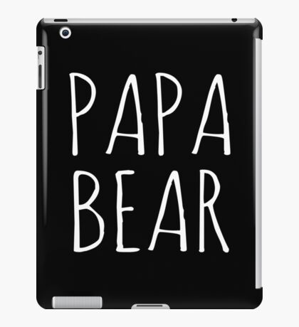 Papa Bear White Ink  iPad Case/Skin