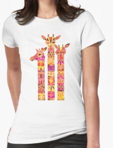Giraffes – Fiery Palette Womens Fitted T-Shirt