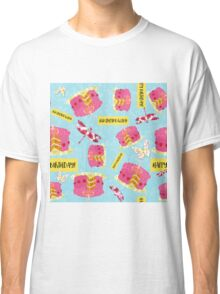 Happy Birthday Garden Party pattern, cake, butterfly, dragonfly Classic T-Shirt
