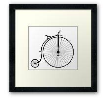 Vintage High Wheeler Penny Farthing Bicycle Framed Print