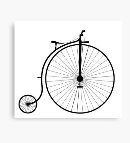 Vintage High Wheeler Penny Farthing Bicycle Canvas Print
