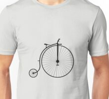Vintage High Wheeler Penny Farthing Bicycle Unisex T-Shirt