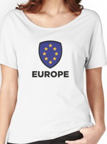 The Union Flag of Europe Women's Relaxed Fit T-Shirt