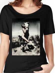 Woman and horse MixXart Women's Relaxed Fit T-Shirt