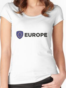 The Union Flag of Europe Women's Fitted Scoop T-Shirt