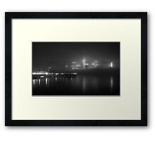 The Fog on the Hudson in Black and White #1 Framed Print
