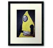 Mona Lisa Goes Bananas Framed Print