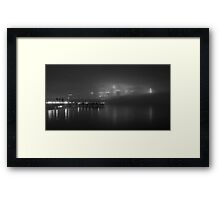 The Fog on the Hudson in Black and White #2 Framed Print
