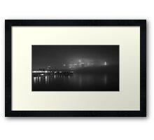 The Fog on the Hudson in Black and White #2 Framed Print