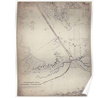 Civil War Maps 1848 Topographical sketch of Decherd Tennessee Poster