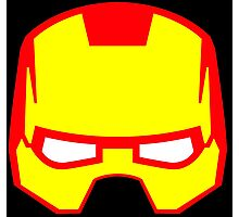 Super hero mask (Iron man) Photographic Print