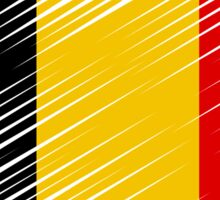 Flag of Belgium Artistic Heart Sticker