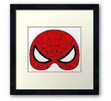 super hero mask (spider man) Framed Print