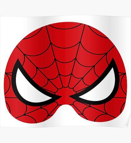 super hero mask (spider man) Poster