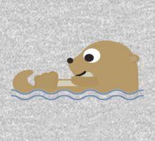 Cute Cartoon Otter Baby Tee