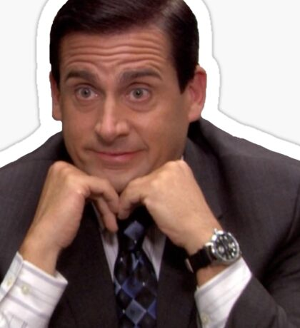 Michael Scott - Suprised  Sticker