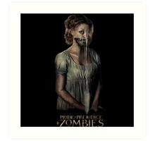 pride prejudice zombies movie Art Print