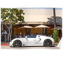 White Bugatti Whitesse Poster