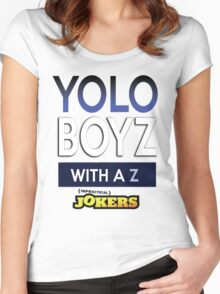 Yolo Boys With A Z (Impractical Jokers) Women's Fitted Scoop T-Shirt