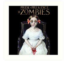 pride prejudice zombies the movie Art Print