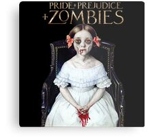 pride prejudice zombies the movie Metal Print