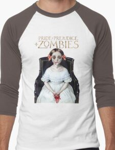 pride prejudice zombies the movie Men's Baseball ¾ T-Shirt