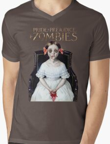pride prejudice zombies the movie Mens V-Neck T-Shirt