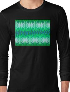 Soft green with blue daisies. Long Sleeve T-Shirt