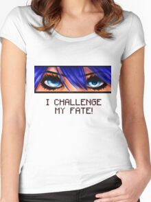 I challenge my fate! Women's Fitted Scoop T-Shirt